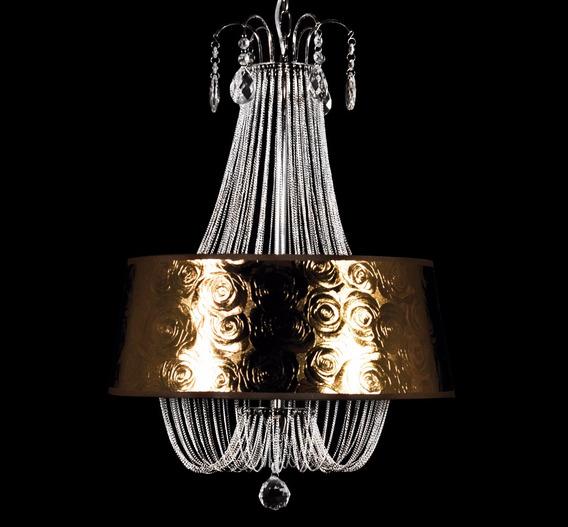Lustre Pendente Cúpula Luminária Caprice G-light 3 Lâmpadas