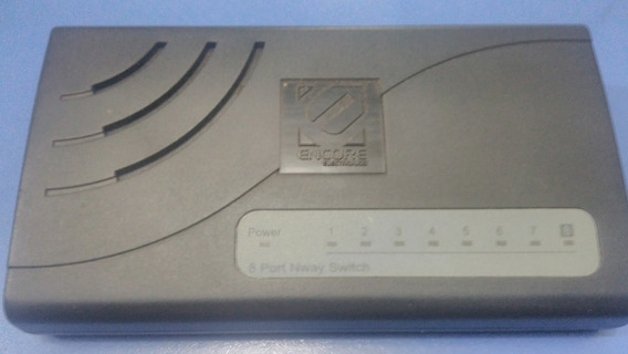Hub Switch Encore Enh908-nwy 8 Portas 10/100 Mbps Roteador