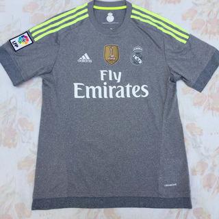 Ak2491 Camisa adidas Real Madrid Away 15/16 M Cinza Fn1608