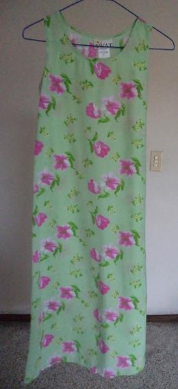 Talla-12 Niña Swat Vestido Verde Con Estampado Floral! Vn93