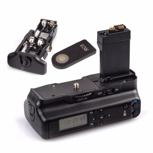 Bateria Grip Lcd Canon Eos 550d 600d 650d Rebel T2i T3i Bg-e
