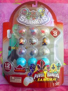 Powers Rangers Samurai Squinkies Figuras Miniatura Serie 3