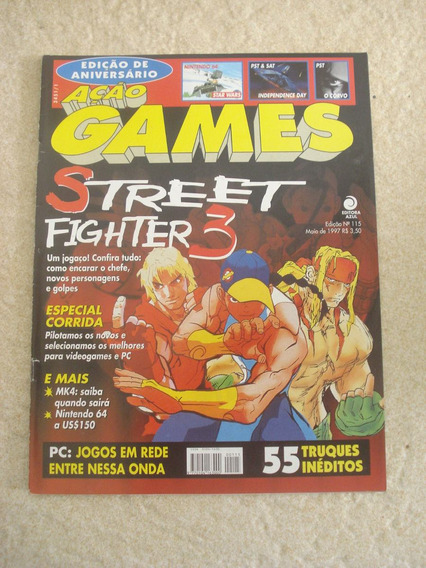 Revista Ação Games 115 Street Fighter 3 Corrida Mk4 F791