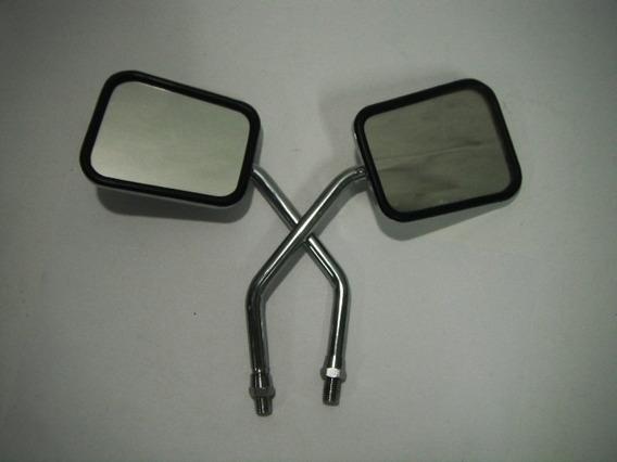 Espelho Retrovisor Paral Honda-yamaha Cromado (renascença)