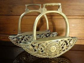 Antigo Par De Estribos Em Bronze - R 3231