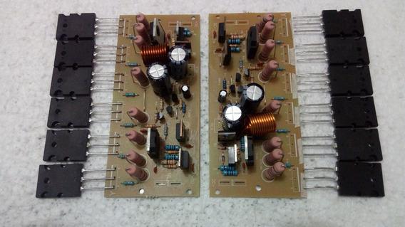 2 Placa Amplificador 300w Montada + 12 Transistor 2sc5200 /