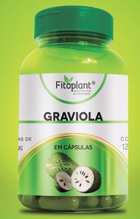 Graviola 500mg 120 Cápsulas 12 Potes Premiun Original Fitoplant