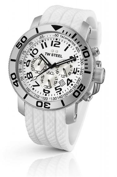Tw Steel Grandeur Diver Reloj Blanco Tw94, Silicon Garantia