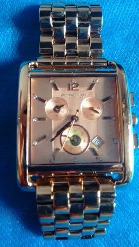 Relógio Michael Kors Mk3142 Chron Anal Ouro Rosé