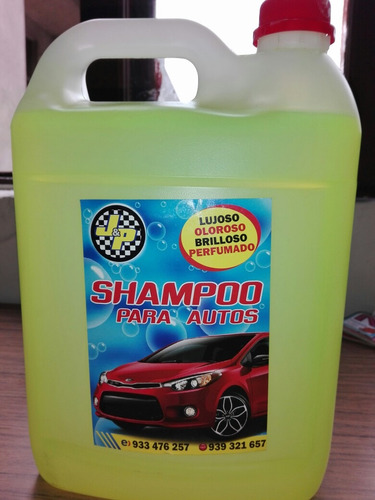 Imagen 1 de 3 de Shampoo Tipo Encerado,espumoso,aromatizado ..4lt