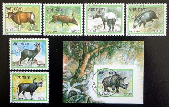 Vietnam Fauna, Serie + Bloque Sc. 1885-91 1988 Usada L8005
