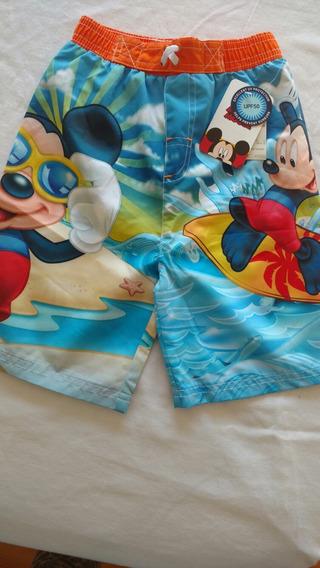 Short Bermuda De Agua Niño Disney. Original! Importada! T. 4