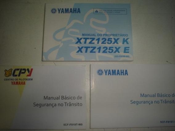Novo Manual Moto Yamaha Xtz 125x K E 2012 2013 2014 Original