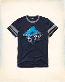 Camiseta Hollister Abercrombie Masculina Original Eua P Azzu