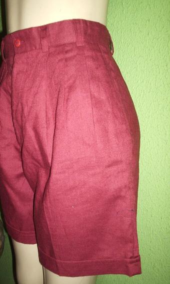 Shorts Linho Cintura Alta Tamanho 42
