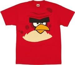 Playera Angry Birds Talla Extra 2xl 50/52 Roja 45% Descuento