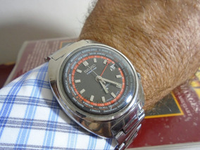 Relógio Seiko Word Time Hora Mundial Gmt Cálibre 6117 6400