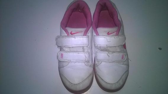 Tenis Infantil Menina Nike,rosa E Branco 28 Usado