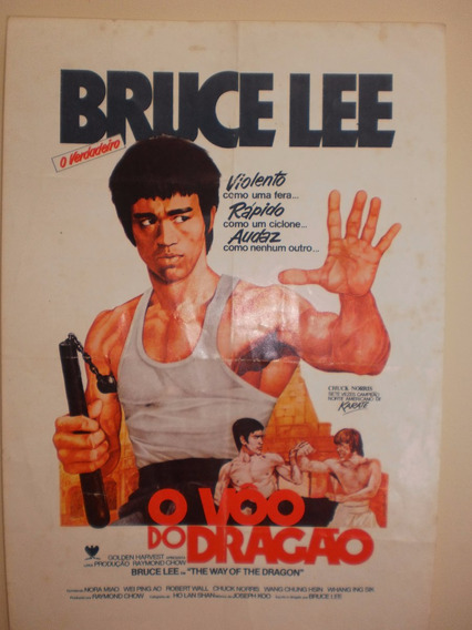 Projetor Prospecto Do Filme O Vôo Do Dragão Com Bruce Lee
