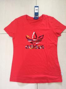ea7ec76597d Camiseta Adidas Trefoil Vermelha - Calçados