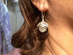 Brincos /colar/anel (prata+ônix+ Topázio Branco Marcassitas)