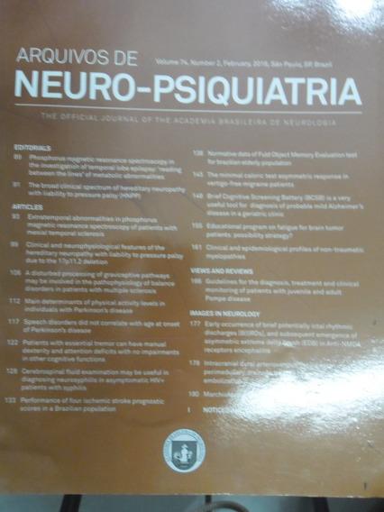Revista - Arquivos De Neuro-psiquiatria - V.74 N°2 Fev.2016
