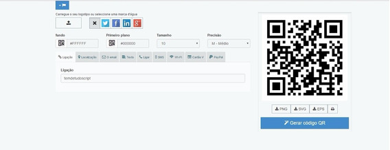 Script Site Gerador De Qrcod Totalmente Funcional E Editável
