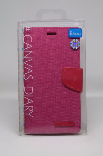 Funda Redmi Note 3 Mercury Goospery Canvas Diary Rosa