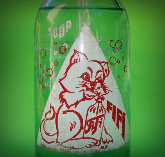 Retro Sifón Vidrio Soda El Gato Fifí - Medio Litro