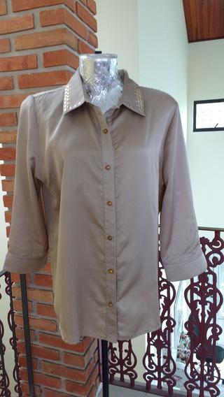 Blusa Camisa Social G44 Feminino 58x68cm Moda Evangélica