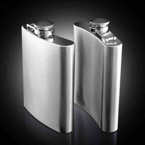 Cantil Porta Bebida Bolso Flask Inox 7oz 210 Ml Whisky Vodka
