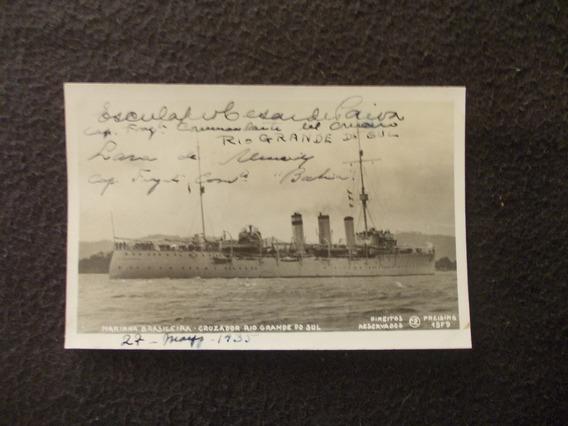 2165-postal Marinha Brasil- Cruzador Rio Grande Do Sul 1935