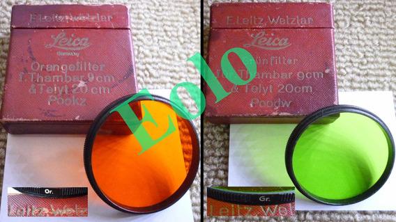 Leica Leitz 2 Filtros Raros P/ Thambar Telyt -envio Grátis &