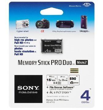 Imagen 1 de 2 de Memoria Sony 4gb Memory Stick Pro Duo Para Camaras