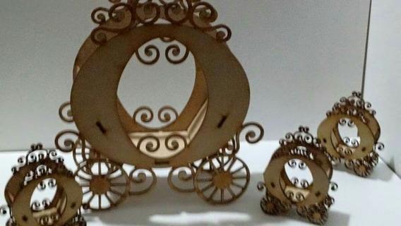 Souvenirs Carrozas Princesa X 50 Unid. + Centro De Mesa