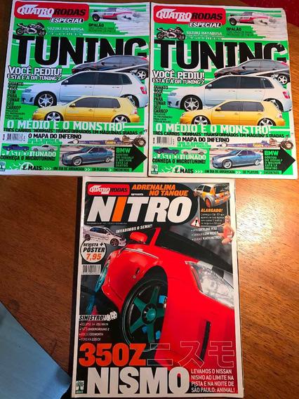 Revistas Quatro Rodas Especial Tuning E Nitro (lote)