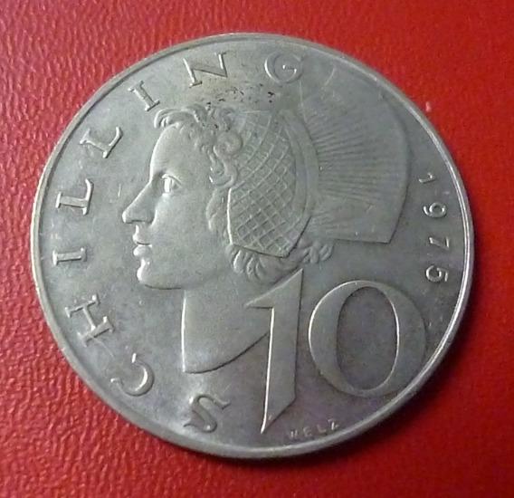 Austria Moneda 10 Schilling Unc 1975