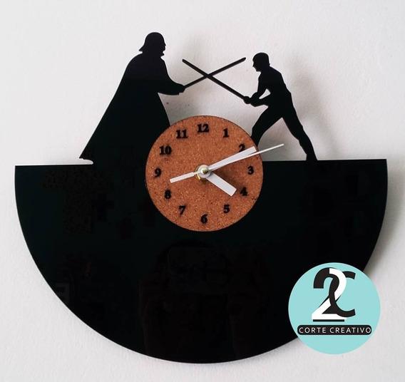 Reloj Corte Laser Star Wars. Darth Vader Y Luke Skywalker