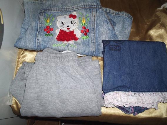 Jaqueta Jeans Infantil Tamanho 3 Anos