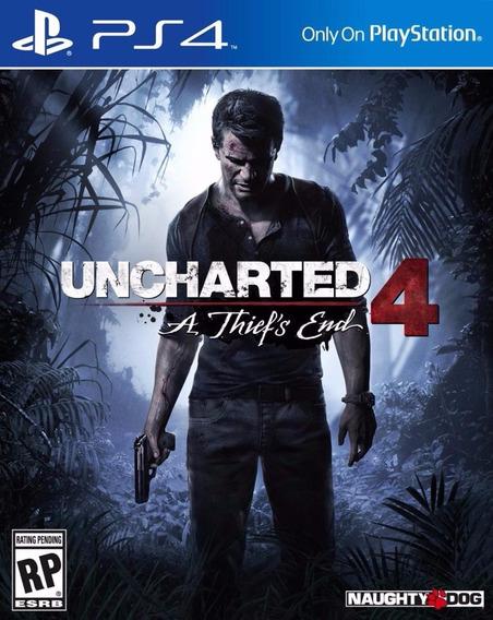 Uncharted 4: A Thiefs End Ps4 Midia Fisica Frete Gratis