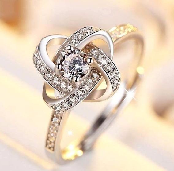 Anillo De Compromiso 18k Oro Con Diamante De 2.8 Oct