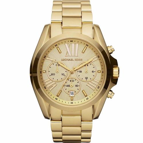 Relógio Michael Kors Feminino Bradshaw Omk5605/z Dourado