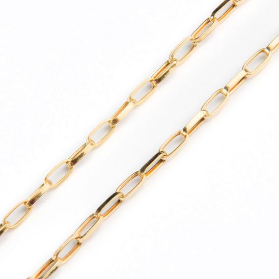 Corrente Em Ouro 18k Cartier Ovalada 70cm