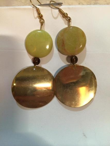 Promoçao Brincos/argola Prata/ Ouro Jade .