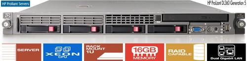 Servidor Hp Proliant Dl360 G5 2 Xeon 600gb 16gb + Trilhos