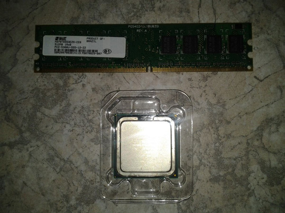 Processador E Memória Intel Celeron 420 1.6 Ghz 800 Lga775