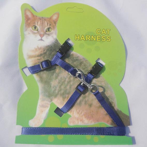 Coleira Peitoral Para Gatos - Azul