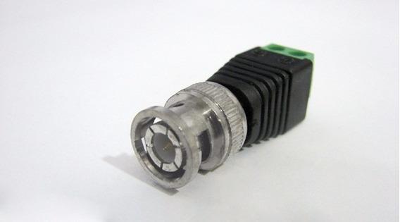 Kit Com 10 Conectores Bnc Macho C/ Borne De Compressão Cftv