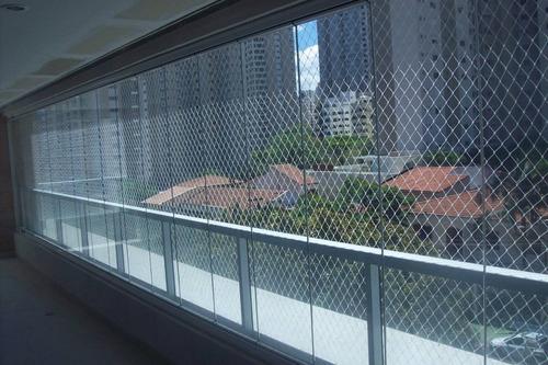Imagem 1 de 6 de Kit Rede Tela De Proteção Medida  16 X 1,60