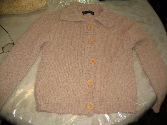 Espectacular Pullover Sweater Saquito Beige Quo Madre Abiert